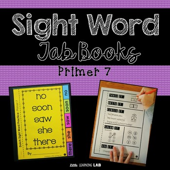 Sight Word Practice | Dolch Primer 7 | Tab Book