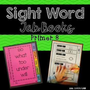 Sight Word Practice | Dolch Primer 8 | Tab Book