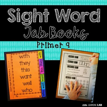 Sight Word Practice | Dolch Primer 9 | Tab Book