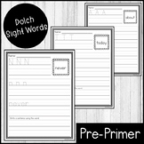"""Sight Word Practice Dolch Third 3/4"""" Lines"""
