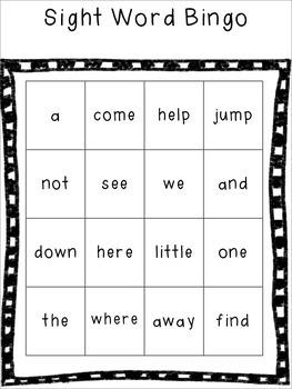 Sight Word Practice - Dolch Words MEGA Pack - Pre Primer Set