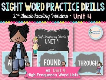Sight Word Practice Drills: 2nd Grade UNIT 4