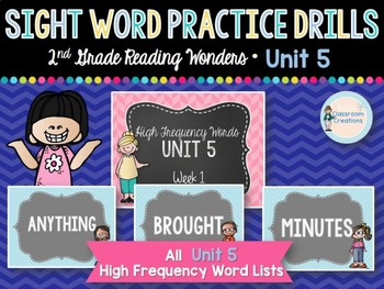 Sight Word Practice Drills: 2nd Grade UNIT 5