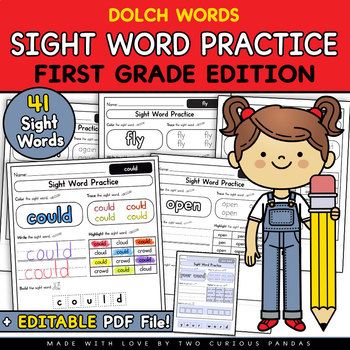 Sight Word Practice - First Grade Edition (Dolch)