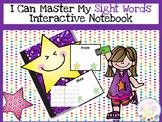 Sight Word Practice Fluency Data Tracker Interactive Notebook