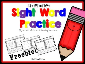 Sight Word Practice Freebie
