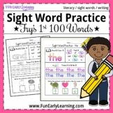 Sight Word Practice - Fry's First 100 Sight Words NO PREP