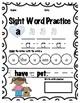 Sight Word Practice Fry's list 1-9