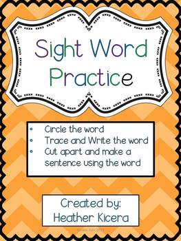 Sight Word Practice Fun