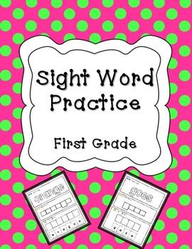 Sight Word Practice! Fun! {1st grade}