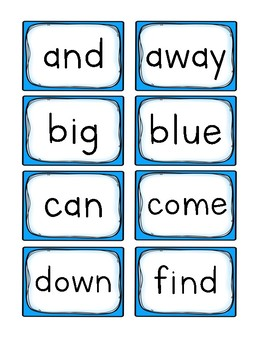 Sight Word Practice Game