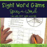 Sight Word Practice Game FREEBIE-Spin-a-Word