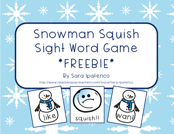 Sight Word Practice Game: Snowman Squish!