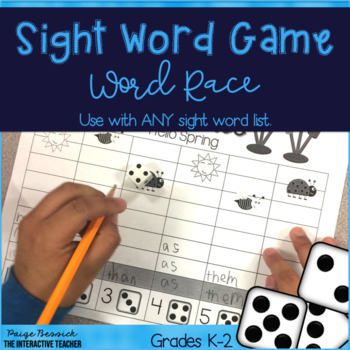 Sight Word Game: Word Race
