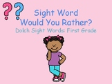 Sight Word Practice Game: Would You Rather?