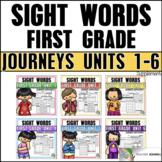 Journeys Sight Word Practice First Grade Units 1-6 BUNDLE