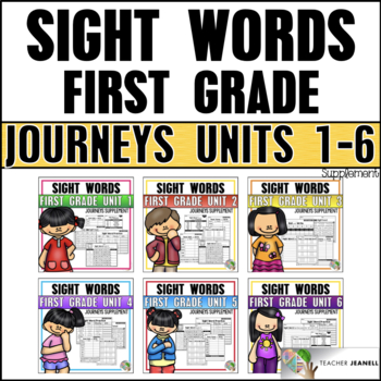 Sight Word Practice Bundle (Journeys First Grade Supplemental Resource)