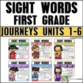 Journeys Sight Word Practice First Grade Units 1-6: BUNDLE