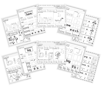 Sight Word Practice - Have, Big, Small, This