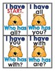 Sight Word Practice - I Have Who Has Sight Word Game