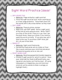 Sight Word Practice Ideas: Fun Classroom or Parent Suggestions