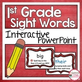 Digital Sight Word Practice Interactive for 1st Grade