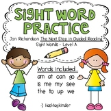 Sight Word Practice Printables - Jan Richardson Level A Words