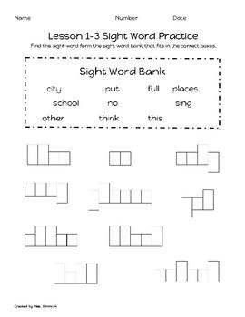 Sight Word Practice- Journey's