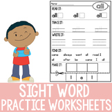 Sight Word Practice (K Dolch Sight Words)