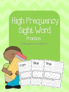 Sight Word Practice - Kindergarten/Grade 1