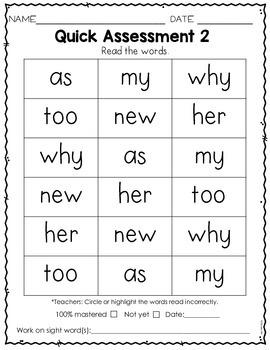 Sight Word Practice Kindergarten Set 3