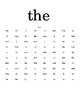 Sight Word Practice - List 1