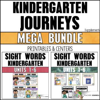 Sight Word Practice Sheets & Activities Kindergarten Units 1-6: MEGA Bundle