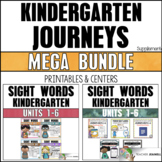 Sight Word Practice Sheets & Activities Bundle(Journeys Kindergarten Supplement)