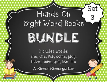 Sight Word Practice Made Easy (and FUN!) BUNDLE 3