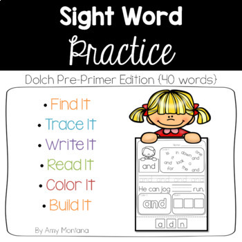 Sight Word Practice Made Fun! {Dolch Pre-Primer Words}