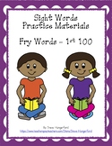 Sight Words Practice Materials - Fry 1st 100