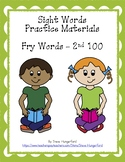 Sight Words Practice Materials - Fry 2nd 100