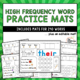 High Frequency Word Practice Mats - 240 Words!