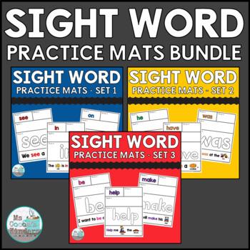 Sight Word Practice Mats Bundle