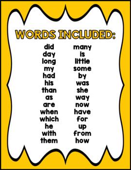 Sight Word Practice Mats - Set 2
