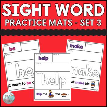 Sight Word Practice Mats - Set 3