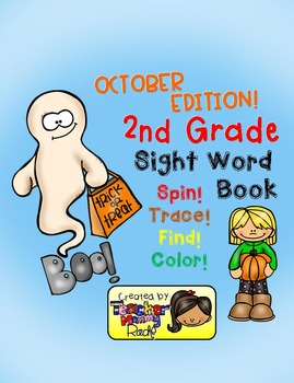 Sight Word Practice: October - Spin! Trace! Find! Color! (2nd Grade)