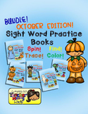 Sight Word Practice: October - Spin! Trace! Find! Color! (Bundle)