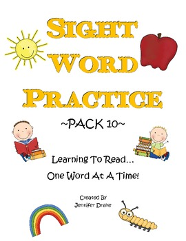 Sight Word Practice- Pack 10