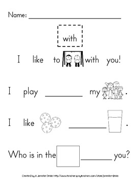 Sight Word Practice- Pack 12