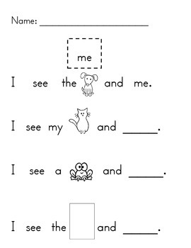 Sight Word Practice- Pack 3
