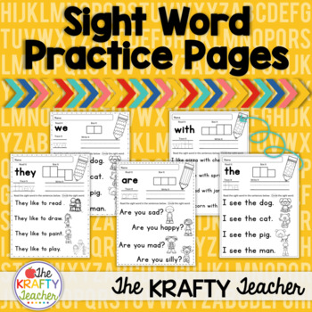 Sight Word Sentences Practice Activities for Kindergarten