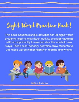 Sight Word Practice Pack
