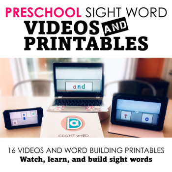 Sight Word Fluency Practice Pack | Preschool | Multimodal Word Activities
